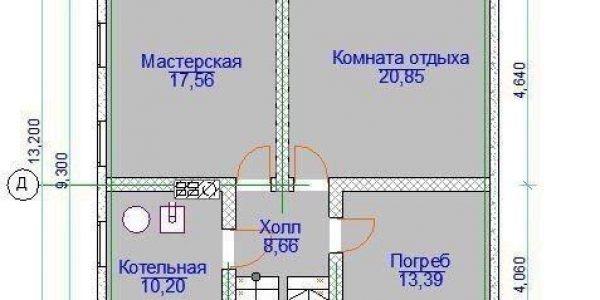План подвала поселок Ключевск