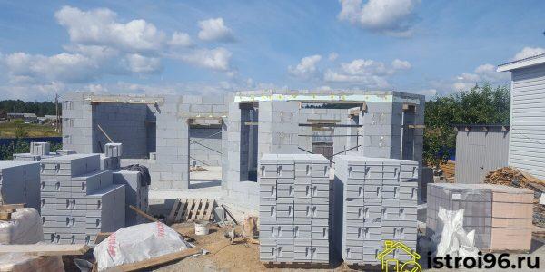 Строительство 1 этажа-2 село Малобрусянское