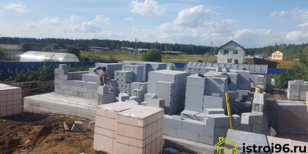 Строительство 1 этажа село Малобрусянское