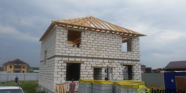 Строительство крыши КП Алые паруса