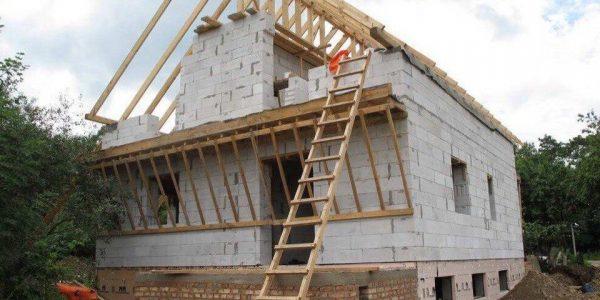Строительство крыши и 2 этажа поселок Ключевск
