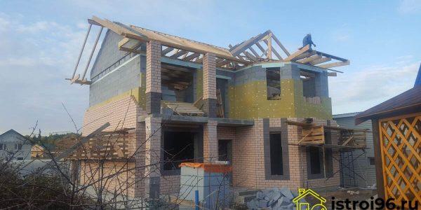 Строительство крыши и фасадные работы-2 село Малобрусянское