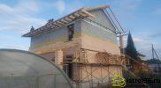 Строительство крыши и фасадные работы село Малобрусянское