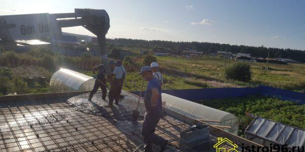 Устройство монолитной плиты перекрытия-2 село Малобрусянское