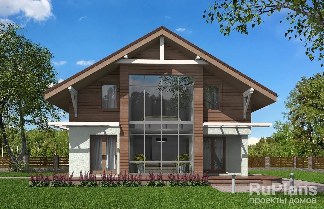 Rg5429 — проект одноэтажного дома с мансардой и гаражом