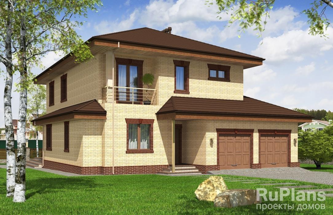 Rg5157 — проект двухэтажного жилого дома с гаражом и террасой