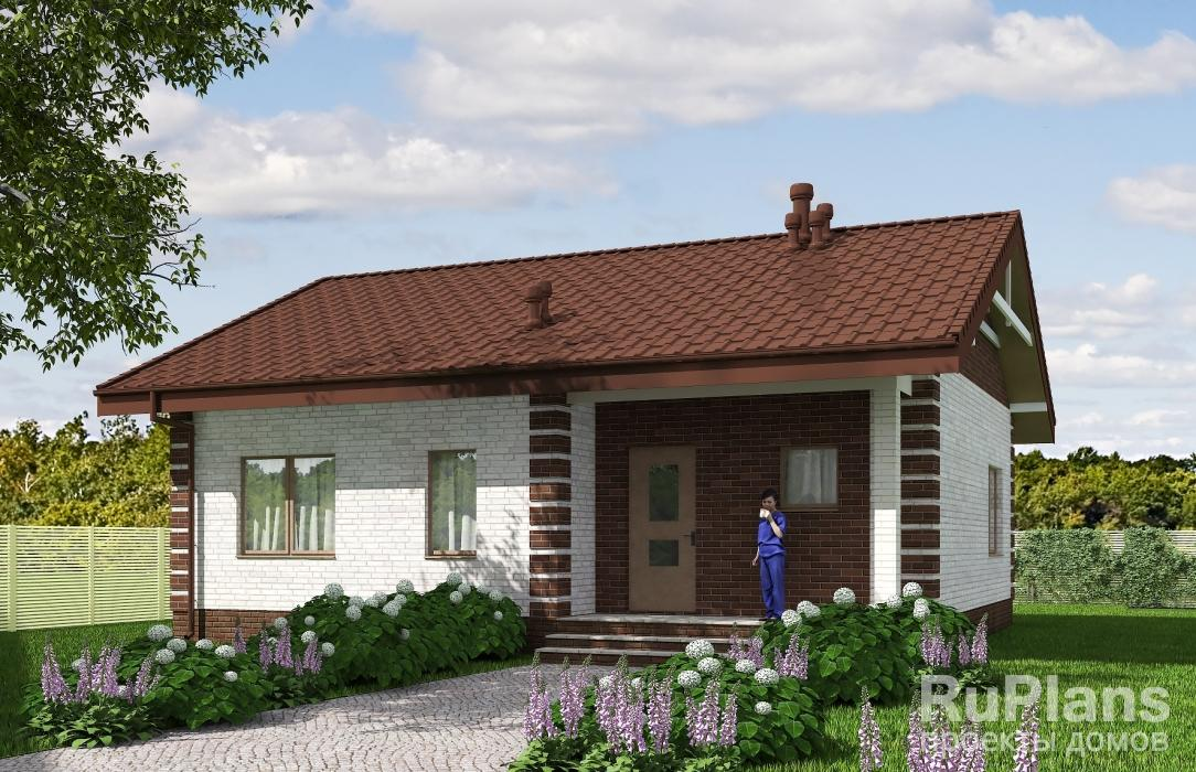 Rg5541 — проект одноэтажного жилого дома с террасой