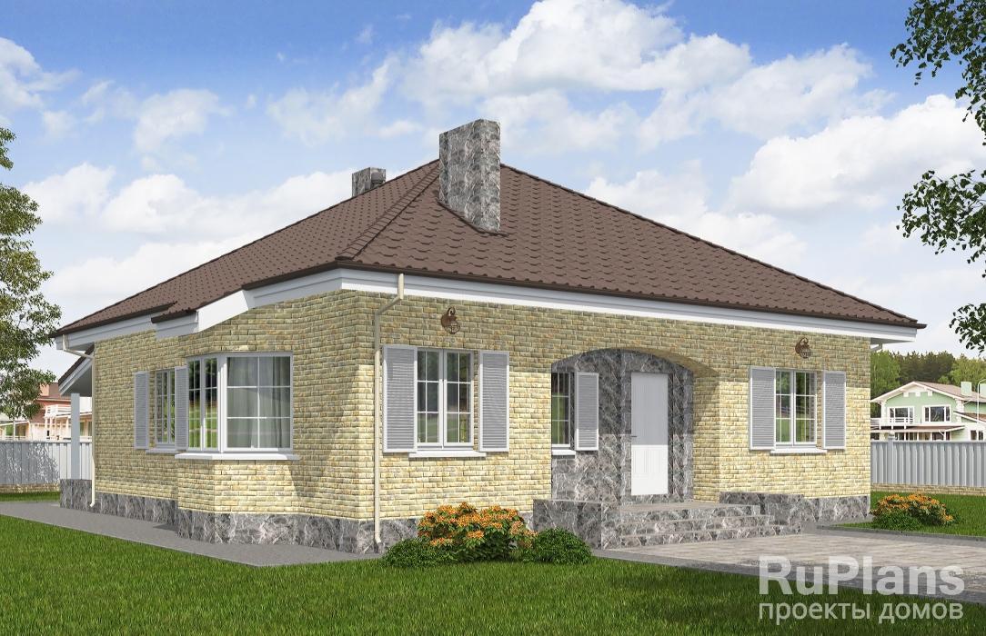 Rg5237 — проект одноэтажного дома с террасой