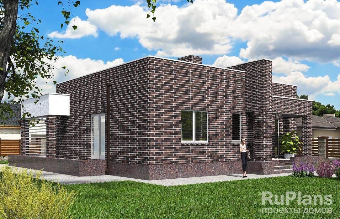 Rg5630 — проект одноэтажного жилого дома с террасой
