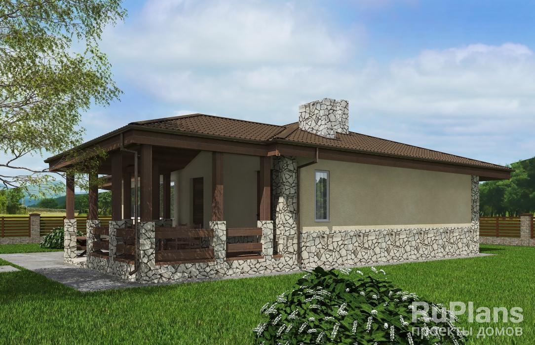 Rg5285 — проект одноэтажного дома с террасой
