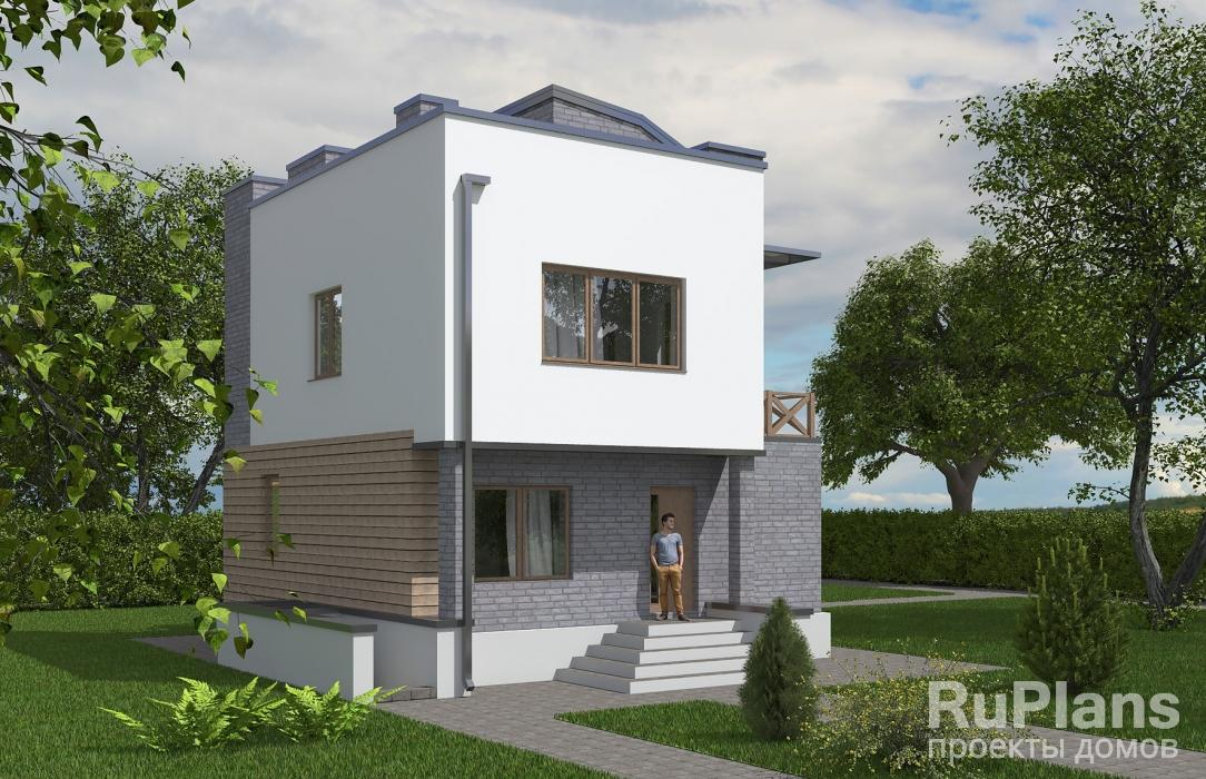 Rg5616 — проект двухэтажного дома с подвалом и эксплуатируемой кровлей