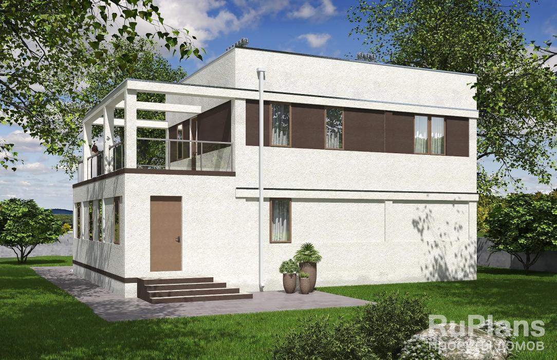 Rg5264 — проект двухэтажного дома с террасами
