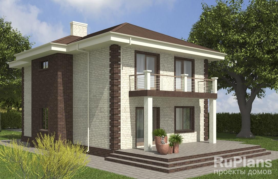 Rg5565 — проект двухэтажного дома с террасой и гаражом