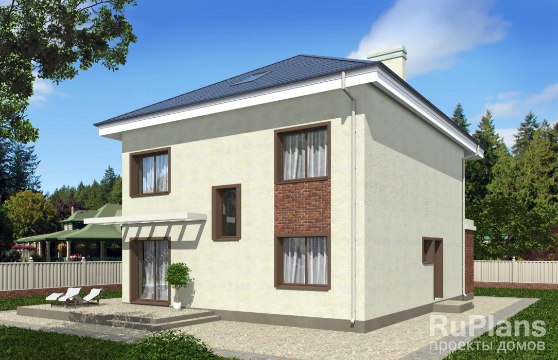 Rg3570 — проект двухэтажного дома с мансардным этажом
