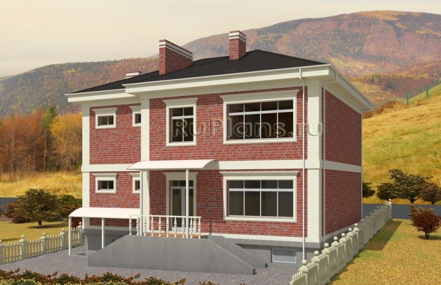Rg5020 — проект стильного двухэтажного дома с цоколем