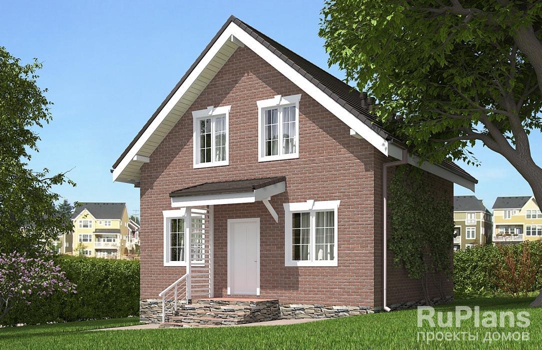Rg5629 — проект одноэтажного дома с мансардой