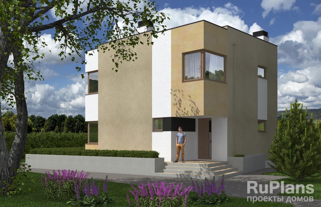 Rg5515 — проект двухэтажного дома с террасой