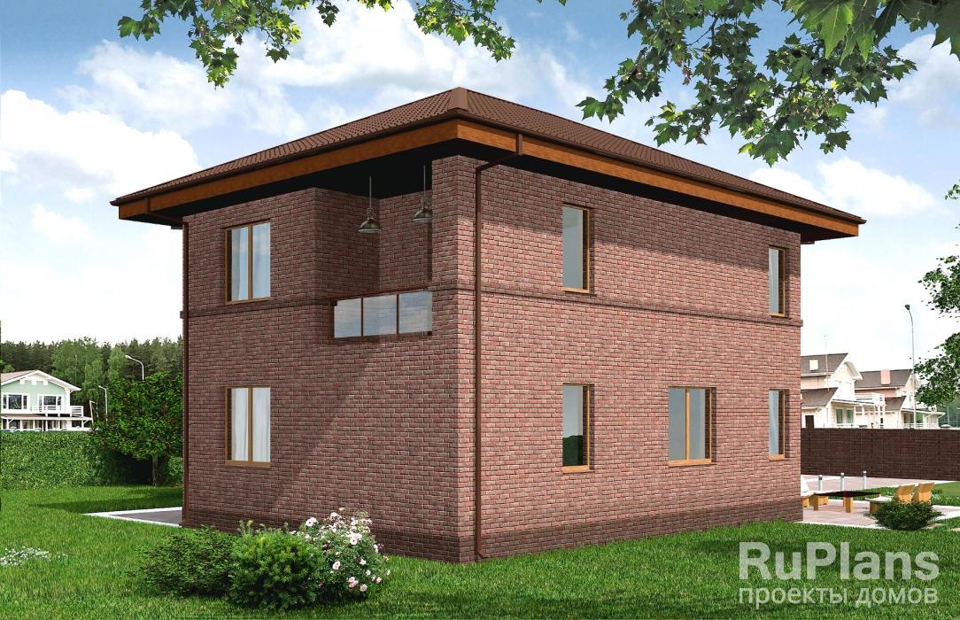 Rg4818 — проект двухэтажного дома с гаражом