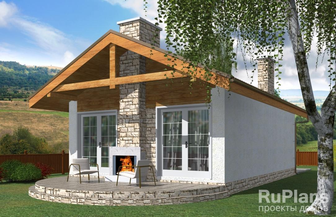Rg3963 — проект компактного одноэтажного дома