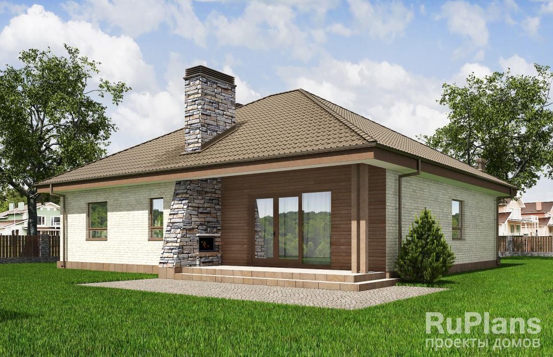 Rg5622 — проект одноэтажного дома с гаражом на 2 машины