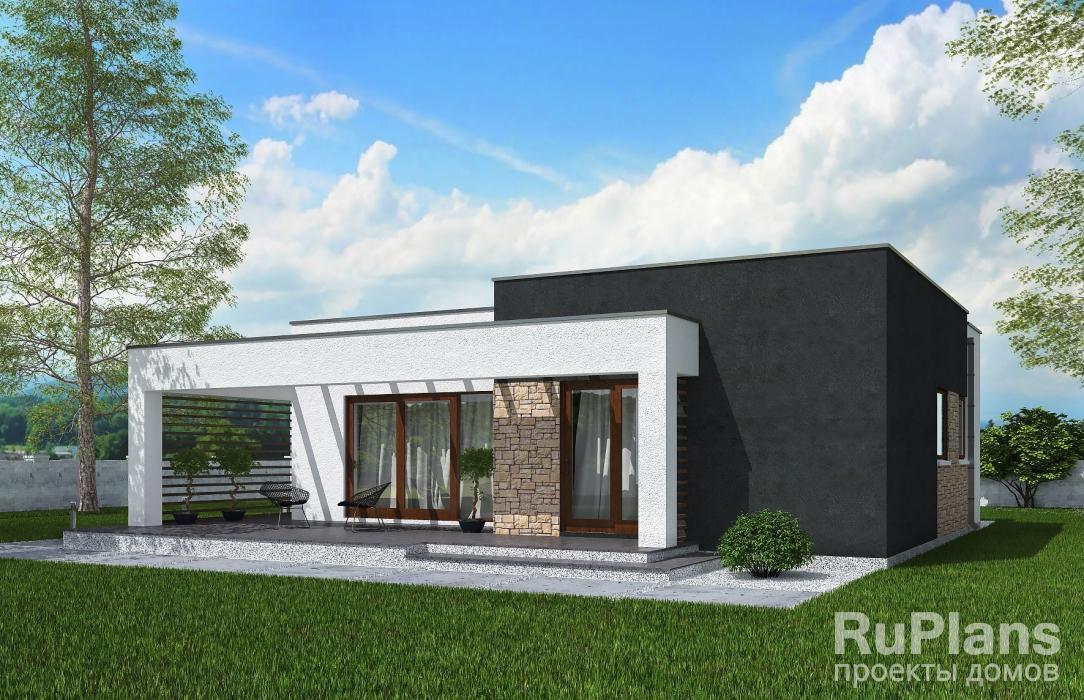 Rg5202 — проект одноэтажного дома с террасой