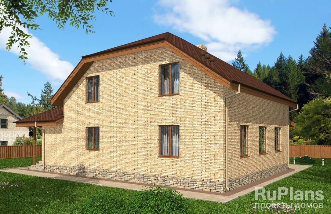 Rg5119 — проект одноэтажного дома с мансардой и гаражом