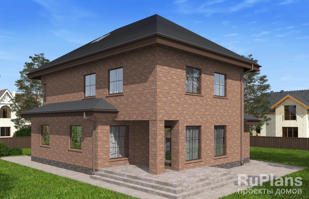 Rg5126 — проект двухэтажного дома с мансардой, гаражом, террасой и балконом