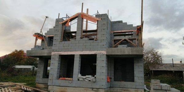 Кладка блоков 2 этажа в Малое Седельниково