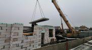 Монтаж плит перекрытия 1 этажа