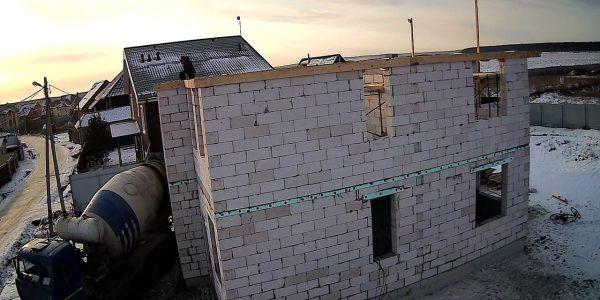 Заливка армопояса 2 этажа